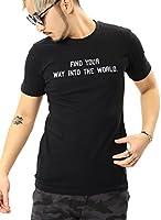JIGGYS SHOP ロゴ Tシャツ メンズ 半袖 スリムフィット 20柄 ボックスロゴ サーフ系 L rブラック