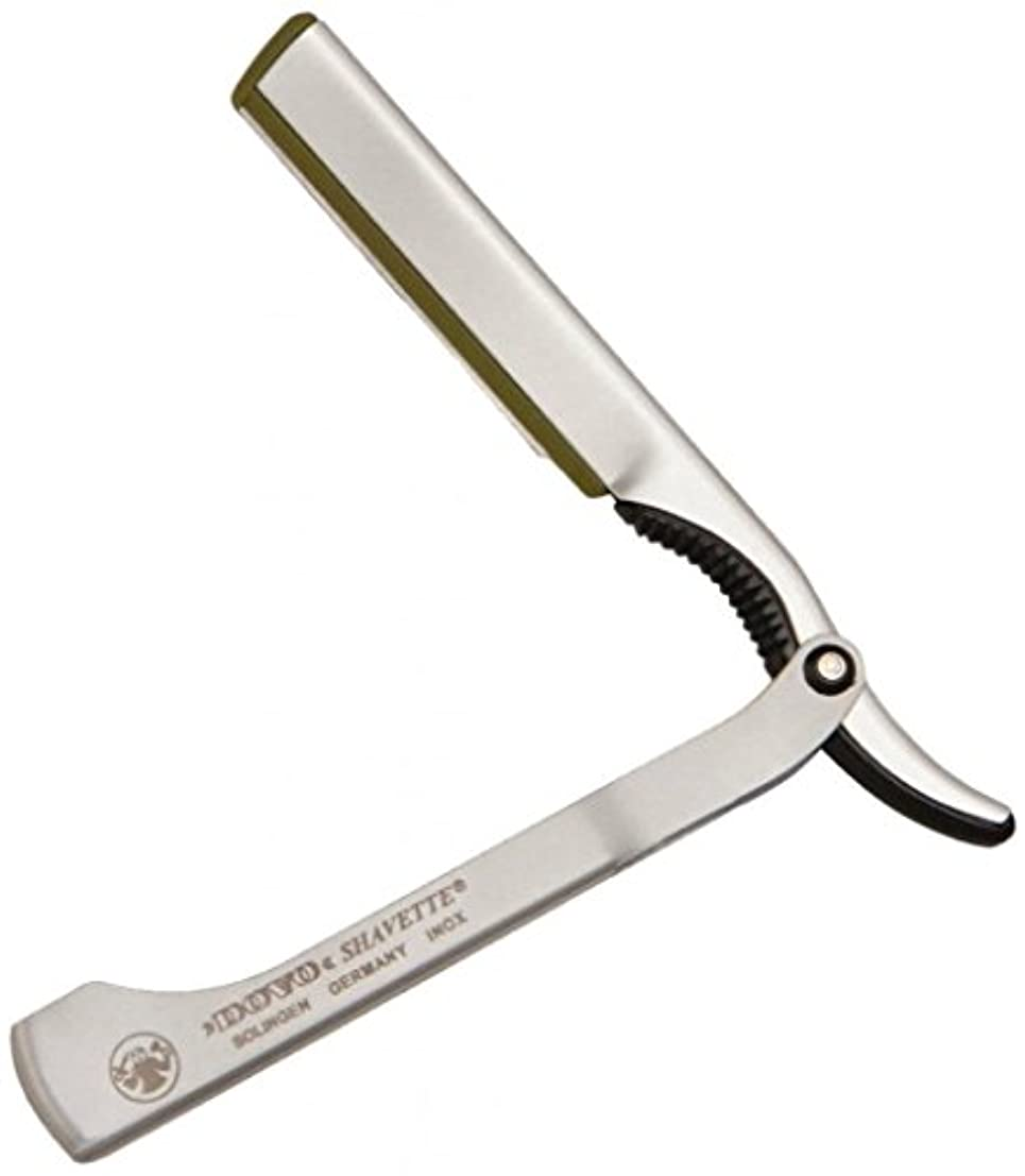 わずかに壊れたしっかりDOVO Solingen - Shavette, straight edge razor, changeable blade, aluminum, 201087