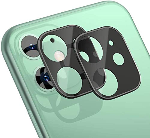 iPhone 11 カメラフィルム 3D全面保護フィルム 液晶強化ガラス 【2枚】 全面フルカバー/ 高透過率99% /硬度9H /超薄型/指紋気泡防止/飛散防止処理 レンズ保護ガラスフィルム iPhone 11 カメラレン保護フィルム -黒