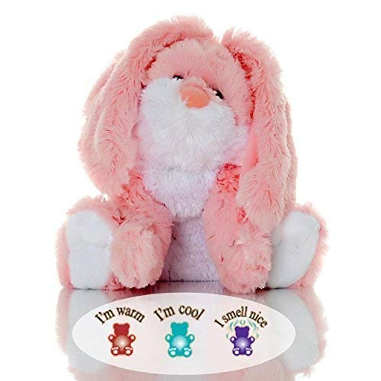 人生を作るにやにや基礎Sootheze Rosey Bunny Rabbit - Microwavable Stuffed Animal - Weighted Lavender Scented Aromatherapy - Hot and Cold...