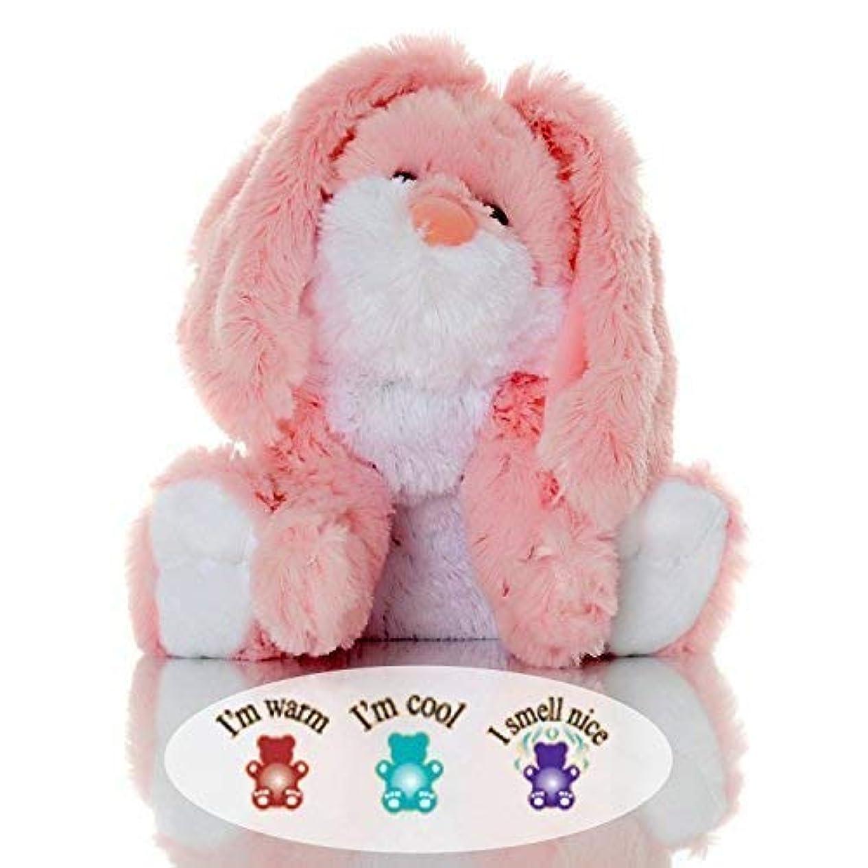 否認する提唱する粘土Sootheze Rosey Bunny Rabbit - Microwavable Stuffed Animal - Weighted Lavender Scented Aromatherapy - Hot and Cold...
