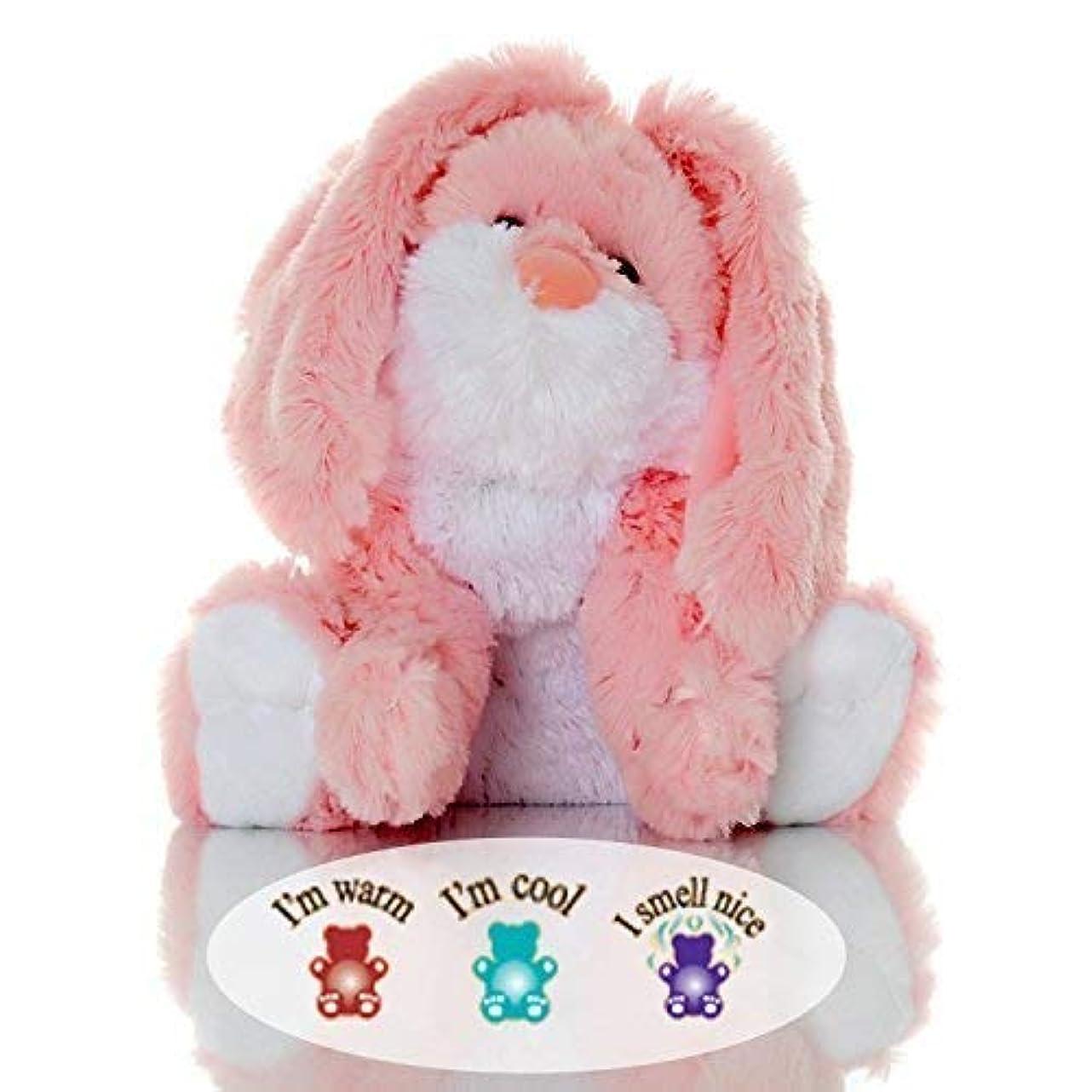 クスクスいたずらあそこSootheze Rosey Bunny Rabbit - Microwavable Stuffed Animal - Weighted Lavender Scented Aromatherapy - Hot and Cold Therapy - 10.5%?????????% Tall & 2 LBS. [並行輸入品]
