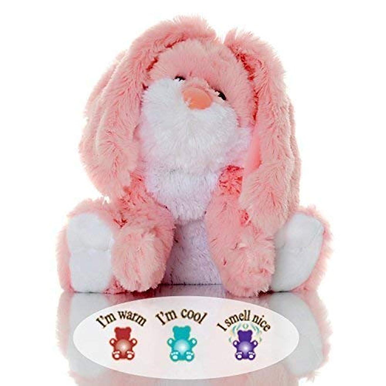 混合したプロジェクター傾向がありますSootheze Rosey Bunny Rabbit - Microwavable Stuffed Animal - Weighted Lavender Scented Aromatherapy - Hot and Cold...