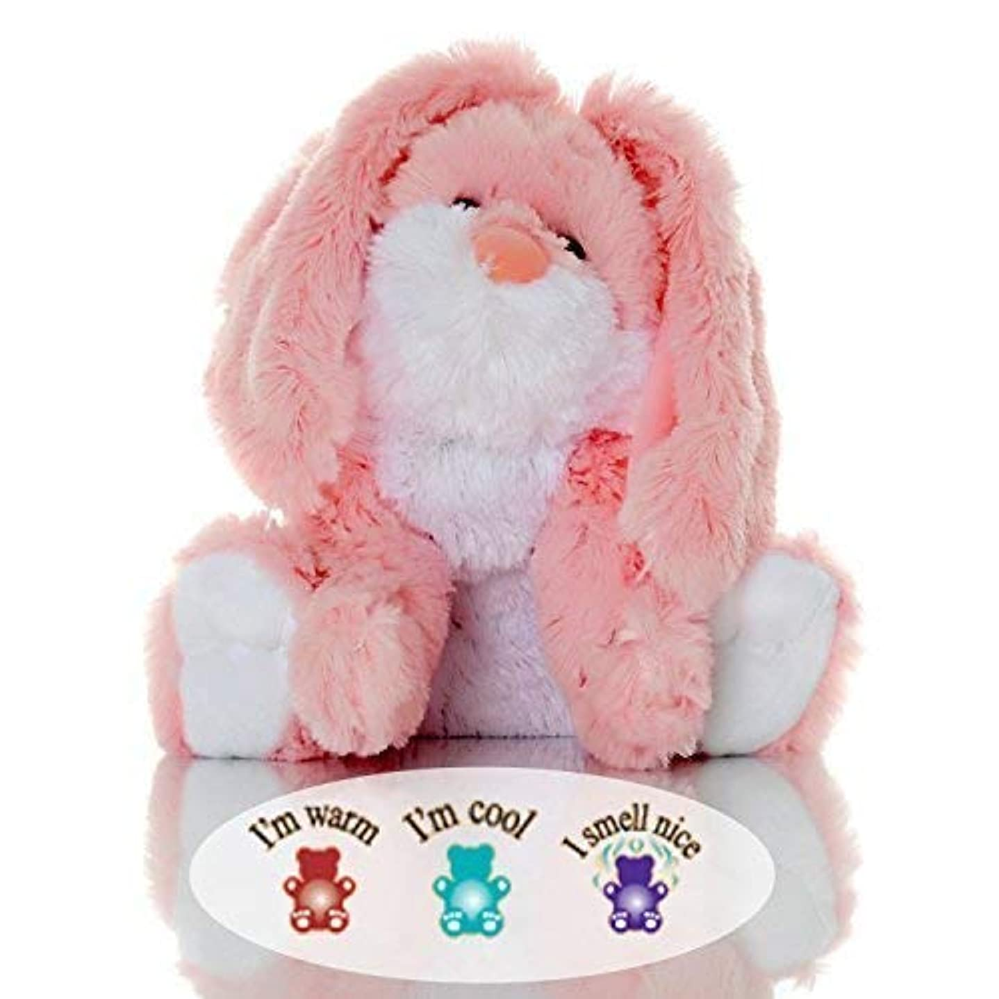 計算可能適度な省略するSootheze Rosey Bunny Rabbit - Microwavable Stuffed Animal - Weighted Lavender Scented Aromatherapy - Hot and Cold...