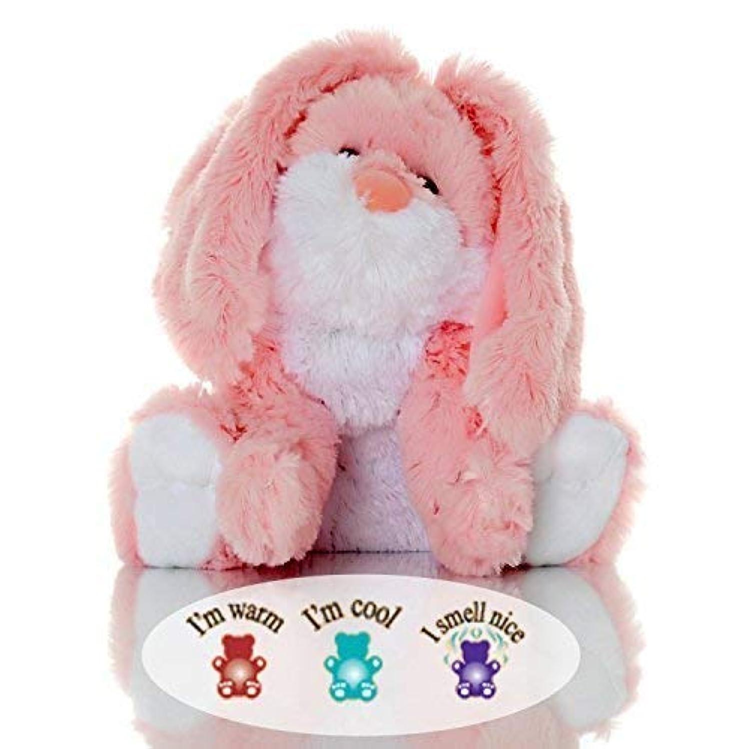 禁止する骨日食Sootheze Rosey Bunny Rabbit - Microwavable Stuffed Animal - Weighted Lavender Scented Aromatherapy - Hot and Cold...