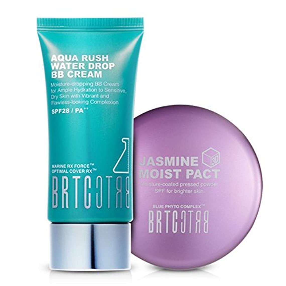 イサカ意外中央【BRTC/非アルティ時】Whitening&Moisture Make Up Set アクアラッシュビビ ファクト2種set [BB Cream+ Moist Pact Set](海外直送品)