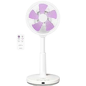 山善(YAMAZEN) 20cmミニリビング扇風機 「ミディファ(MidiFa)」 (リモコン)(風量3段階) 上下風向角度調整(手動) 入切タイマー付 ホワイトグレープ MR-C20(WV)