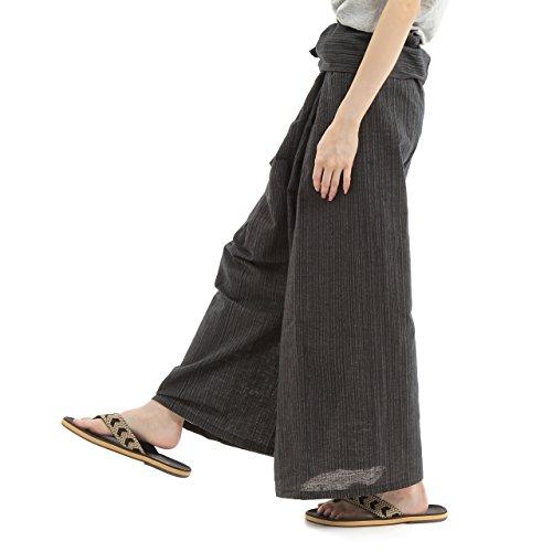 [OKI(オキ)] タイパンツ ヒモ仕様 袴パンツ ユニセックス メンズ レディース フィッシャーマンパンツ
