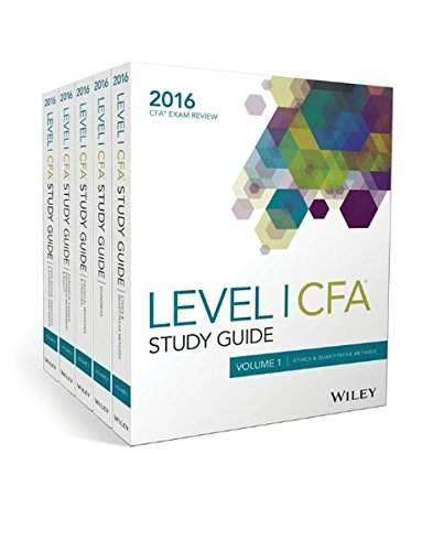 Download Wiley Study Guide for 2016 Level I CFA Exam: Complete Set (Wile05 120319) 1119182794