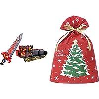 仮面ライダーセイバー 変身ベルト DX聖剣ソードライバー + インディゴ クリスマス ラッピング袋 グリーティングバッグ…
