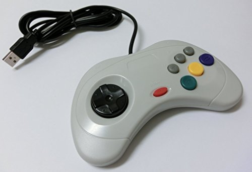 PC サターン6ボタン型USBコントローラー(ホワイト)