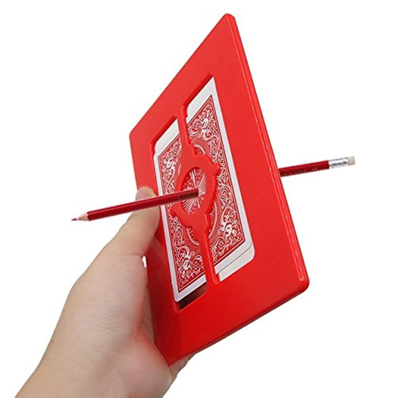 「うらら トリック 」 手品 マジック 透明板を鉛筆が突き抜けるマジック (うららトリック制作?説明 動画付 携帯用専用バック 付)