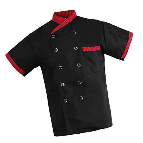 [해외]Baosity 일 직업 코트 반팔 재킷 남녀 용면 작업복 요리 요리사 통기성 요리 작업 속건 3 색 5 크기/Baosity Work Professional coat Short sleeve jacket Gender cotton Work clothes Cooking chef Breathable dish Work fast drying 3 colors 5 si...