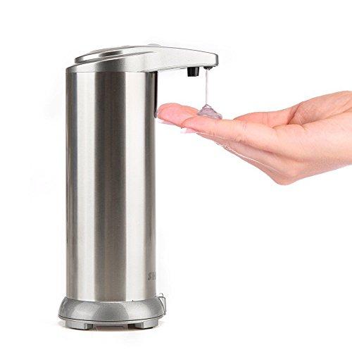 SQ オートソープディスペンサー ステンレス 自動センサー出液 吐出量3段調整可 280lm シャンペン色