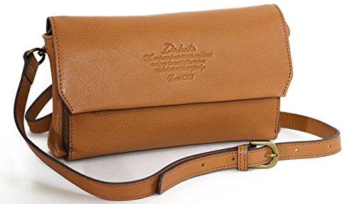 (ダコタ) Dakota アミューズ 上質レザーのクラッチお財布バッグ (ブラウン)