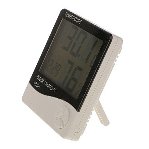 【ノーブランド品】液晶 デジタル 目覚まし時計 温度計 温度 湿度 湿度計