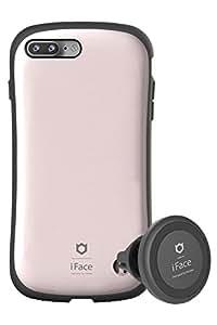 iPhone7Plus ケース 耐衝撃 iFace Duo Set 車載ホルダー セット 正規品 / メタリック / ローズゴールド