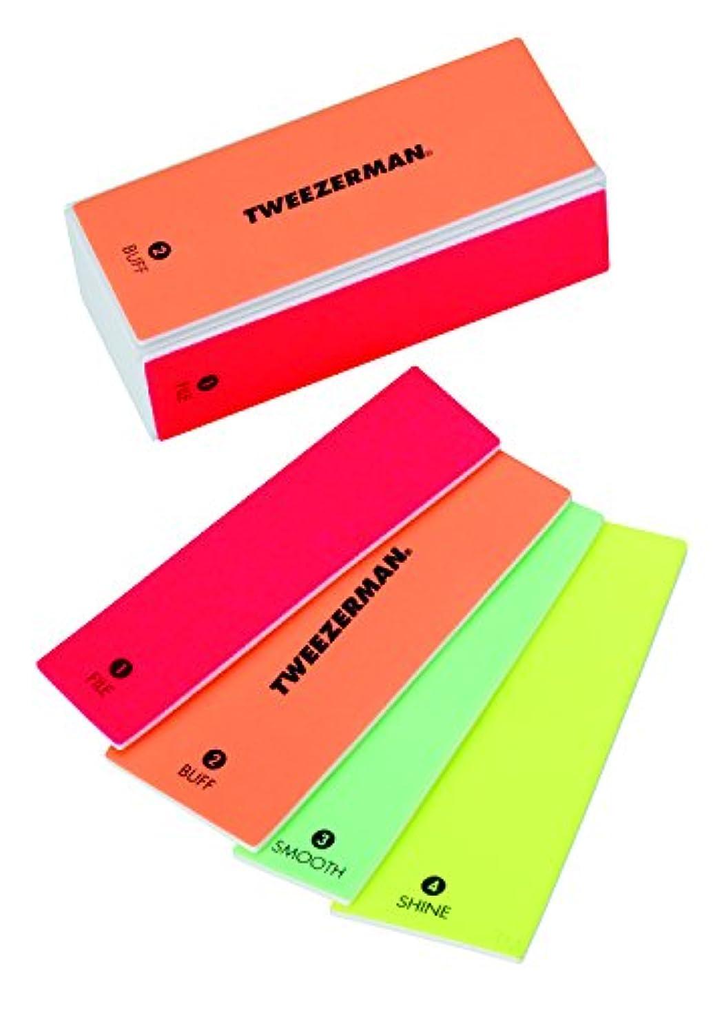 タンザニア言うまでもなくランデブーツィーザーマン Neon Hot 4 In 1 File, Buff, Smooth & Shine Block -並行輸入品