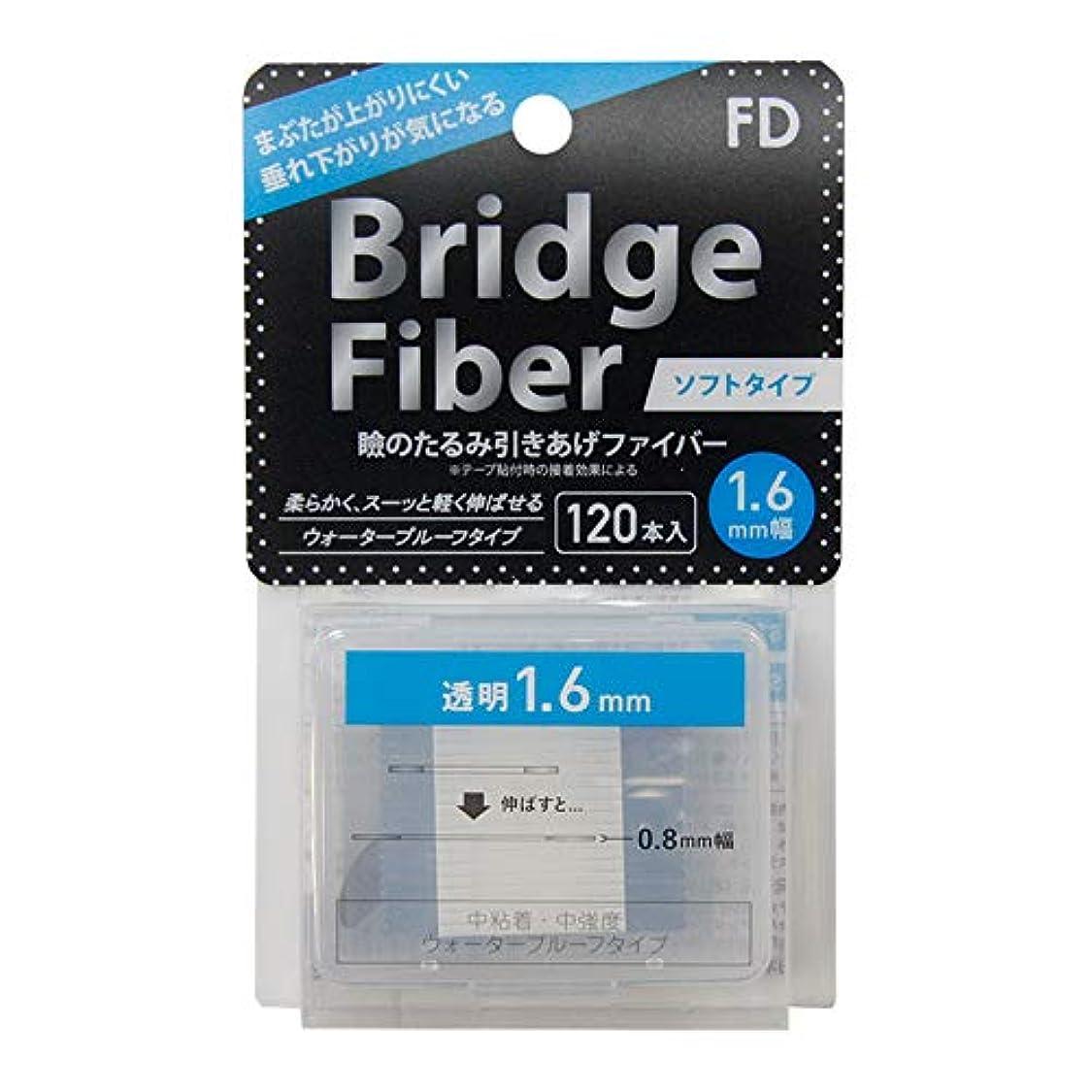社交的ボア資格FD ブリッジソフトファイバー 眼瞼下垂防止テープ ソフトタイプ 透明1.6mm幅 120本入り