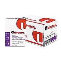 ユニバーサル®明るいホワイトMultipurposeコピー用紙ペーパー、Xero / DUP、Ltr、98b、We 18026(パックof2)