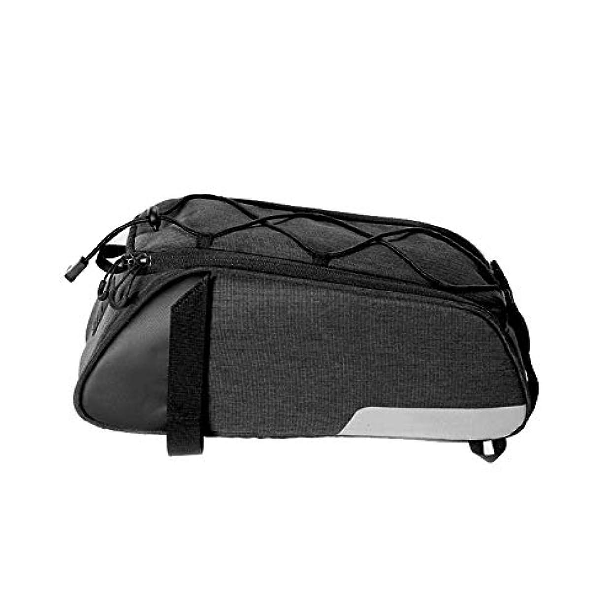 カテゴリー徐々に散髪自転車バイクリアシートトランクバッグ 十分に防水屋外MTBのロードバイクのための多機能の自転車の後部座席袋 サイクリングアクセサリー (Color : Black, Size : 33*14*12.5)