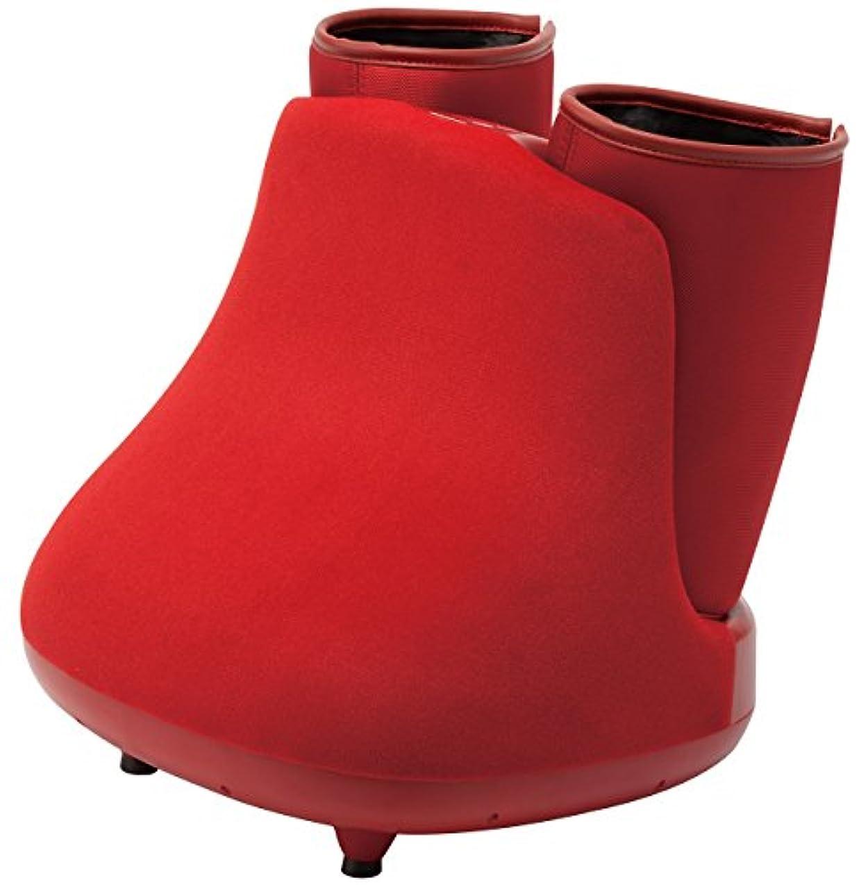 レンド究極の足首スライヴ しぼりもみフットマッサージャー 温風ヒーター搭載 「通販限定モデル」 レッド MD-8750(R)