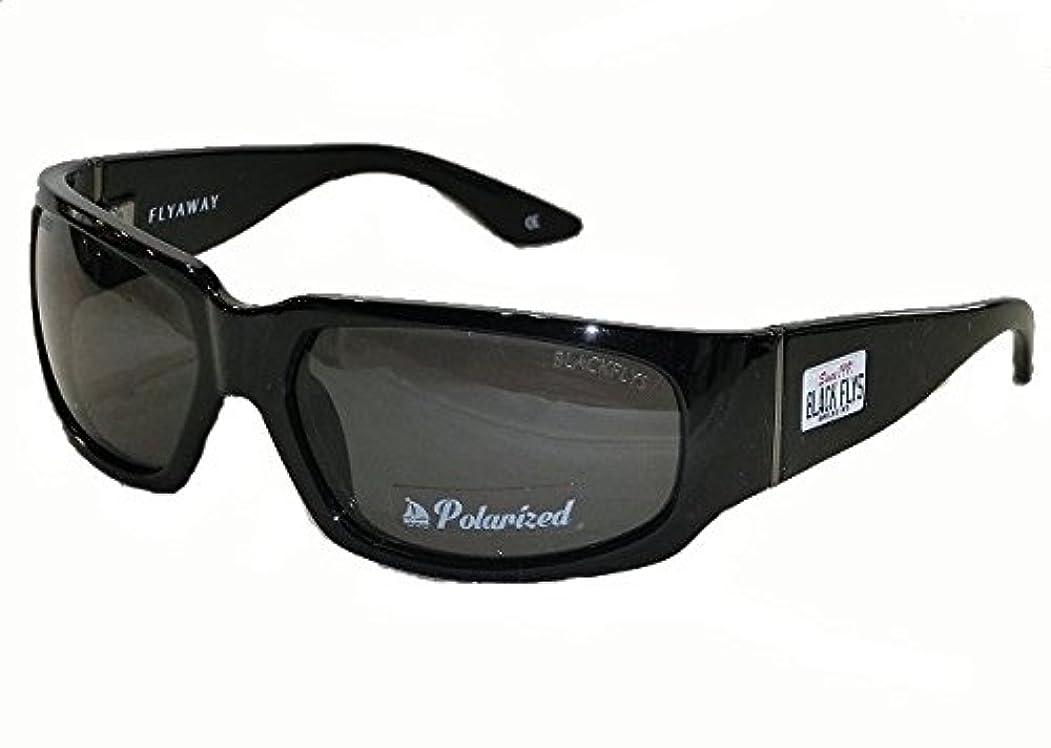 描写ジョガー先史時代のBLACK FLYS(ブラックフライズ) FLY AWAY(フライアウェイ) SBlack-SmokePOL(シャイニーブラック-スモーク) 偏光レンズ