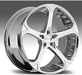 【並行輸入品】【22インチホイールのみ4本セット】GIOVANNA DALAR-5V(ジオバンナ ダラー5V) CHROME(クローム) LEXUS LS460/BMW 7シリーズ(F01/F02)/シボレー カマロ 5Hx120