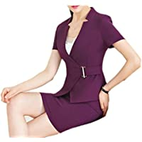 Maweisong Womens Sexy Slim Fit Blazer Jacket and Skirts Two-Piece Outfits Suit Sets
