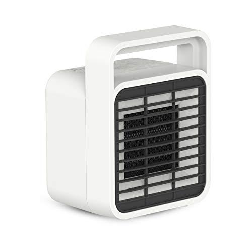 セラミックヒーター 小型 300W 温風 送風 2段階切替 転倒自動OFF機能付き 急速暖房【日本語説明書あり】