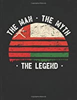 The Man The Myth The Legend: Oman Flag Sunset Personalized Gift Idea for Omani Coworker Friend or Boss  2020 Calendar Daily Weekly Monthly Planner Organizer