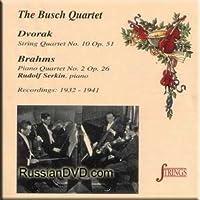 String Quartet 10 Op 51 / Piano Quartet 2 Op 26