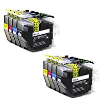 Tonertop 互換インクカートリッジ Brother LC3017 LC 3017 LC3019 XL Brother MFC-J6930DW MFC-J5330DW MFC-J6530DW MFC-J6730DW プリンター(2ブラック、2シアン、2マゼンタ、2イエロー、8パック)