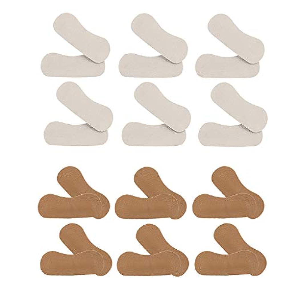 プラグゴミ箱発見するHellery 12ペア 靴かかと保護パッド ヒールパッド クッション PUレザー 靴擦れ防止 保護 男女兼用