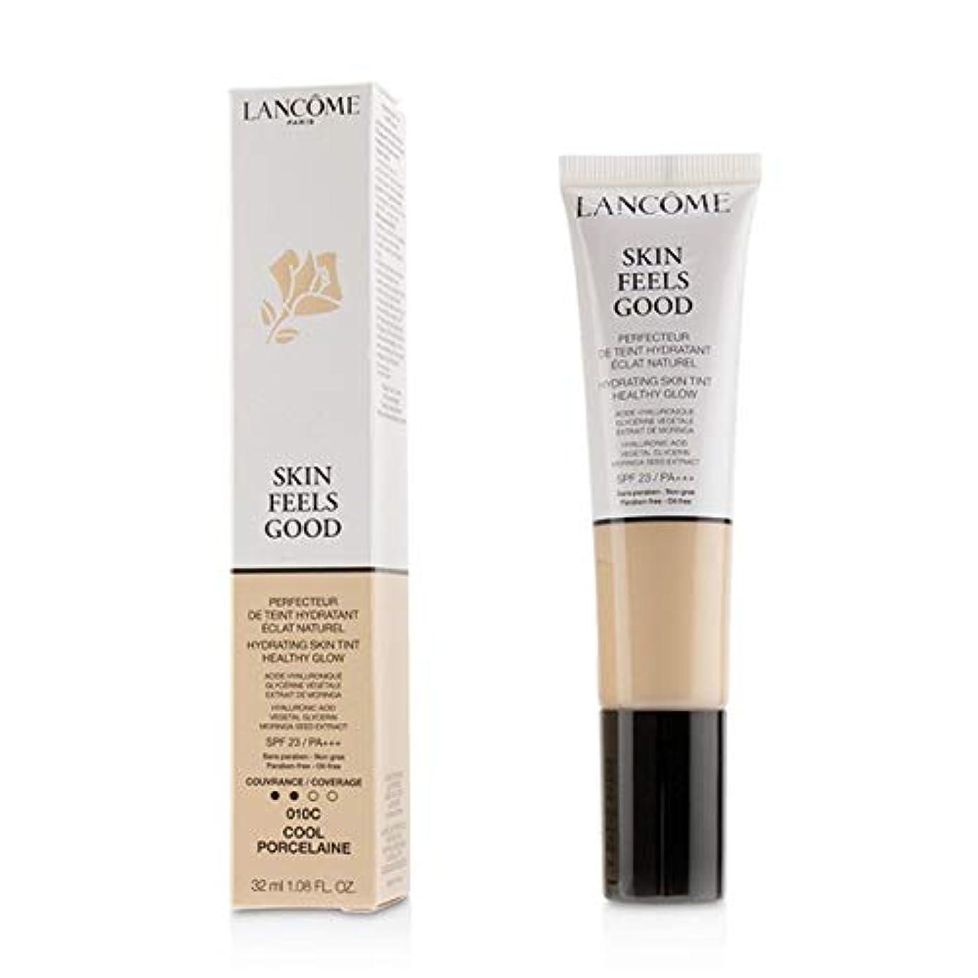 ストッキング期待して飛行場ランコム Skin Feels Good Hydrating Skin Tint Healthy Glow SPF 23 - # 010C Cool Porcelaine 32ml/1.08oz並行輸入品