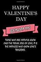 happy valentine's day  Benjamin Quote: composition notebook :valentine's day gift for an happy valentine day gratitude your lover