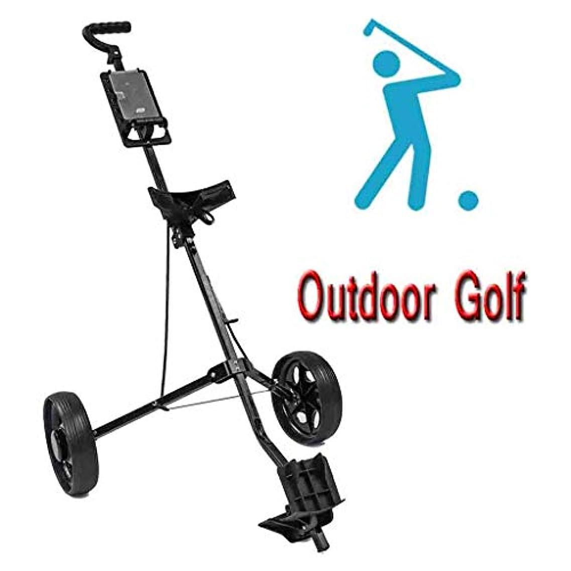 不公平リサイクルするボア2020新しいゴルフプッシュプルゴルフカート、アウトドアスポーツのためのスコアカード折りたたみ軽量ゴルフプッシュカート付き2ホイールゴルフトロリー