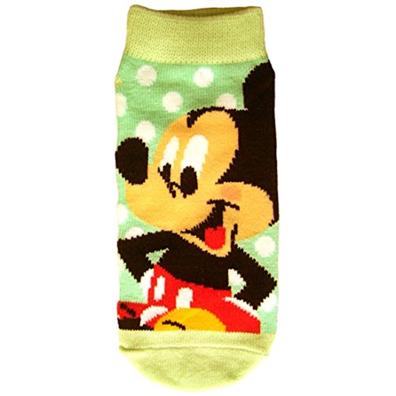 ディズニー キッズソックス ミッキーマウス子供靴下 ドット ブルー?ライトブルー 13cm~18cm AWDS3094J