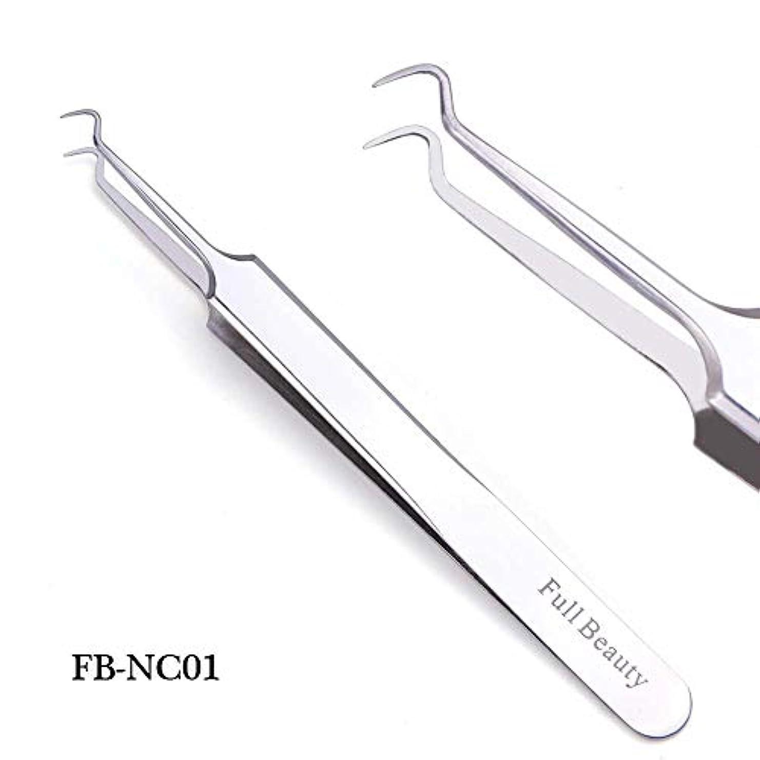 ナインへ金銭的なピカソ1ピーススライバーミラー眉毛ピンセット曲線ストレートまつげエクステンションネイルニッパーにきびクリーニング化粧道具マニキュアSAFBNC01-04 FB-NC01