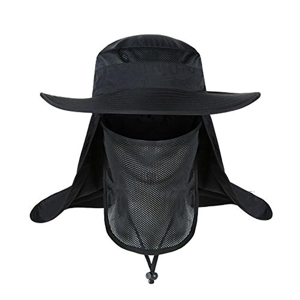 暖かさ衝突するショッキング釣り帽子,バケットハット 360度 日よけカバー 紫外線防止 通気性良好メッシュ素材 超軽量