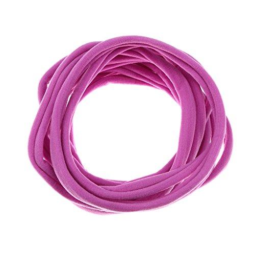 Lovoski 10個女孩女人尼龍基本環橡膠週髮夾8色
