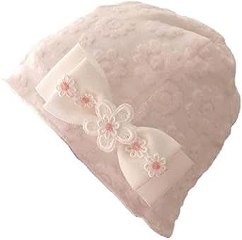 抗がん剤治療帽子 抗がん剤治療用帽子 医療用帽子 ケア帽子 乳がん治療帽子 <人気再入荷!> グログランリボン 可愛いリボン帽子 リボン付きニット帽 花柄 ナイトキャップ プリンセスのんの