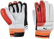 Puma, Cricket, Evo 6 Batting Gloves, Boys, Fiery Coral/White, Left Hand