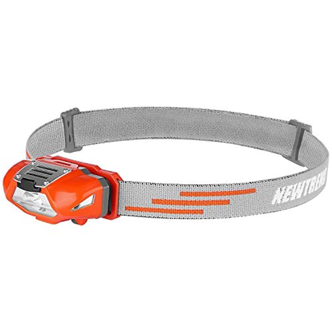 アカウントポータブルモンキーNEWTREND® LEDヘッドライト 電池式 ライト ヘッド ヘッドランプ 帽子ライト IPX6 防水 小型 軽量 ポータブルポーチ付き 防災 登山 探険 夜行 ランニング 子供用に最適