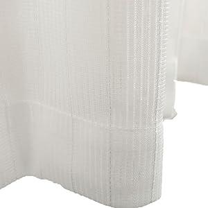 Haruka・Style(ハルカ・スタイル) ミラーレースカーテン2枚組 ラフィール 幅100×丈98cm アイボリー