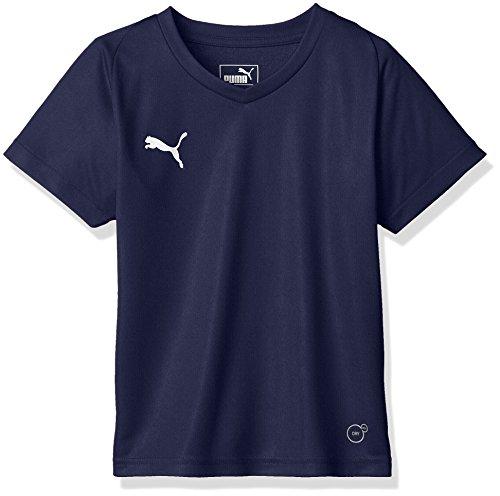 [プーマ] サッカーウェア LIGA ゲームシャツ コア 703630 [ボーイズ] ピーコート/プーマ ホワイト (06) 日本 120 (日本サイズ120 相当)