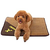 Jiyaru 夏 ペットマット 猫 犬 マット 夏用 クッション 犬用 犬ベッド ペットベッド 猫 用 ペット ベッド 洗える 猫用 涼感 可愛い 大型犬 小型 中型犬 犬用マット カバー取り外し