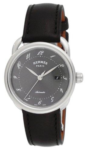 [エルメス]HERMES 腕時計 アルソー グレー文字盤 カ...
