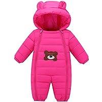 Happy Cherry Baby Winter Romper Winter Thermal Snowsuit Jumpsuit Cute Hooded Coat 3-18 Months