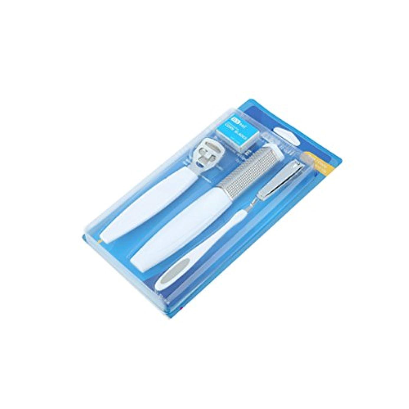 かる蒸メンタルペディキュア 5点セット 爪きりセット 爪切り 足 フットケア用品 かかと 角質取り 専用やすり [並行輸入品]
